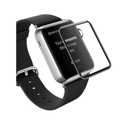 3D Curved Edge Tempered Glass Full Cover Screen Protector Film For Apple Watch 42mm