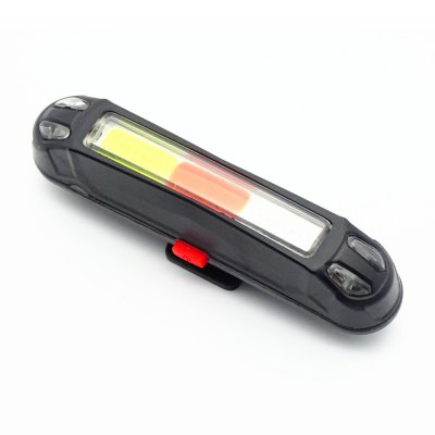 Nocturnal Riding Three-Colour LED Waterproof Tailstock Caution Light for Bicycle
