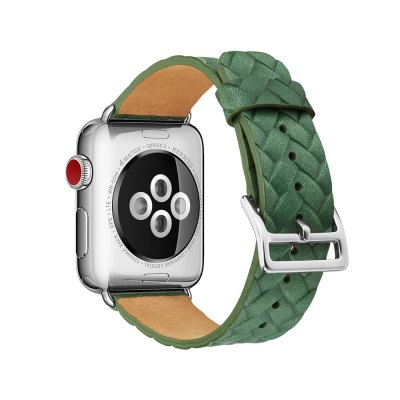 Weaving Grain Genuine Leather Strap for iWatch Series 3 / 2 / 1 Band 42mm Bracelet
