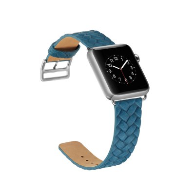 Weaving Grain Genuine Leather Strap for iWatch Series 3 / 2 / 1 Band 38mm Bracelet