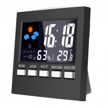 Multi-function Backlight Weather Forecast Permanent Calendar Humiture Grapher Sound Control Electronic Alarm Clock