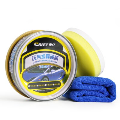 Car Hard Wax Natural Palm Resin Wax for Car Paint Care with a Sponge and a Towel