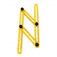 Measuring Instrument Angle-izer Template Tool Four-Sided Ruler Mechanism Slide (Color: Yellow)