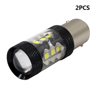 2PCS White S25 P21W 1157 BAY15D 3030 16 SMD LED Turn Signal Parking Light Bulbs