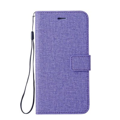 Wkae Solid Color Premium Jeans Cloth Texture Leather Pouch Case for Xiaomi Redmi 4A