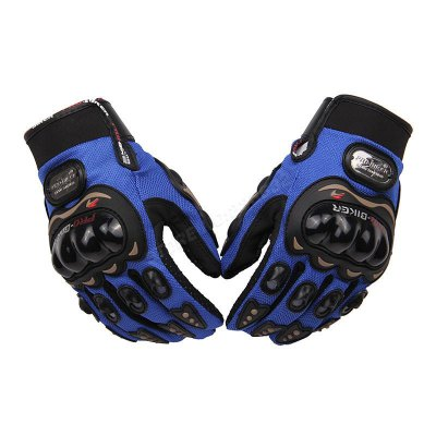 2pcs Motorcycle Outdoor Sports Full Finger Knight Gloves