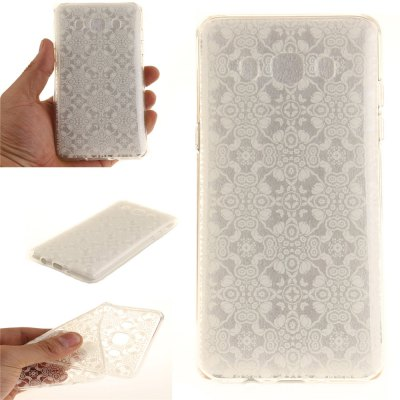 White Lace Soft Clear IMD TPU Phone Casing Mobile Smartphone Cover Shell Case for Samsung J510 2016