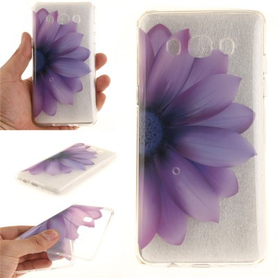 Half The Flower Soft Clear IMD TPU Phone Casing Mobile Smartphone Cover Shell Case for Samsung J510 2016