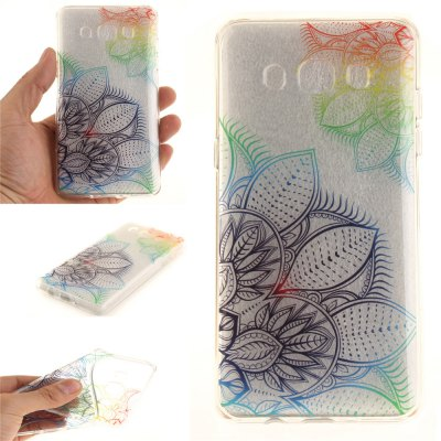 Fantasy Flowers Soft Clear IMD TPU Phone Casing Mobile Smartphone Cover Shell Case for Samsung J510 2016