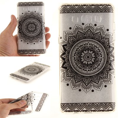 Black Datura Soft Clear IMD TPU Phone Casing Mobile Smartphone Cover Shell Case for Samsung J510 2016