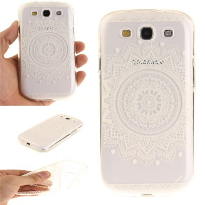 The White Mandala Soft Clear IMD TPU Phone Casing Mobile Smartphone Cover Shell Case for Samsung S3 I9300