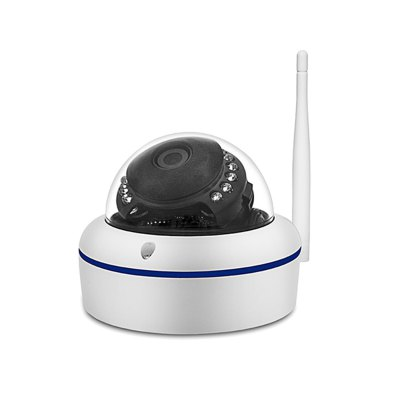 720P HD Mini Dome IP Camera Outdoor Wireless Wifi Weatherproof ONVIF and RTSP with Free P2P Metal Alloy Case