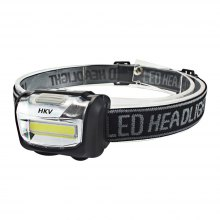 HKV COB LED Headlamp Mini Headlight Rainproof Flashlight Outdoor Camping Head Light