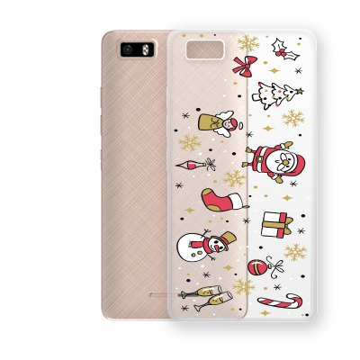 Santa Claus and Tree Pattern TPU Soft Phone Case for TECNO W3