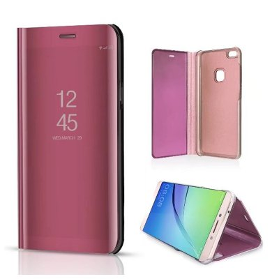 Original Mirror Clear View Smart Cover Phone With Rouse Slim Flip for Huawei P10 Lite Case