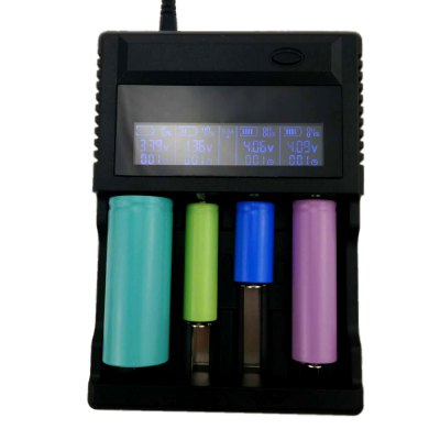 ZH440C 4 Slots LCD Display Intelligent Indicator Batterie Charger with PowerBank Function For Li-ion or Ni-MH Batery