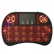 2.4GHz Wireless Air Mouse Mini Keyboard Smart Remote I8 Touchpad with Three Colors Backlit