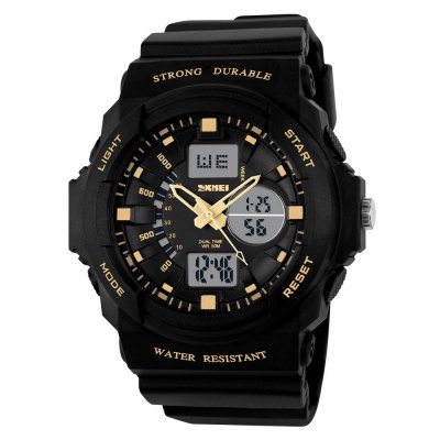 SKMEI Beauty Men'S tide Double Show Outdoor Sports Waterproof LED Electronic Watch