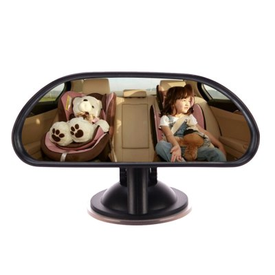 XY Rear View Mirror Disc Type Baby Rearview Mirror 360 Degree Rotation in a Car Interior Trim