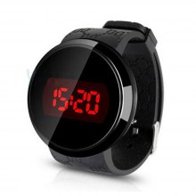 Man Watches Conception Blue Red LED Mens Stainless Steel Wrist Watch Relogio Masculino