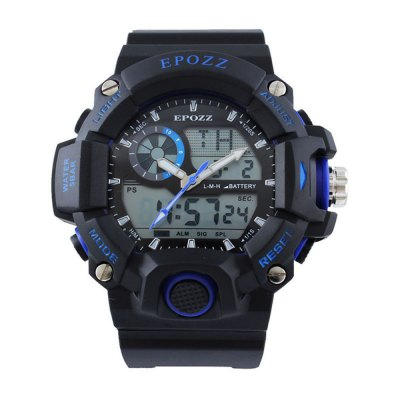 EPOZZ 2811 Dual Display Watch 50M Waterproof Alarm Clock LED Men Watch