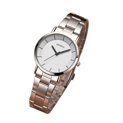 Factory Brand DIFFUL Alloy Package Couple Watches Male and Female Quartz Watches