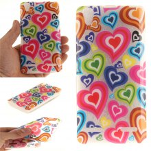 Cover Case for Lenovo K3 A6000 Color of Love Soft Clear IMD TPU Phone Casing Mobile Smartphone