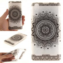 Cover Case for Lenovo K3 A6000 Black Datura Soft Clear IMD TPU Phone Casing Mobile Smartphone