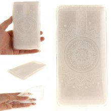 Cover Case for Lenovo K5 Note The White Mandala Soft Clear IMD TPU Phone Casing Mobile Smartphone