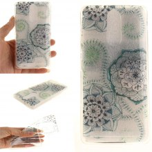 Cover Case for Lenovo K5 Note Blue Green Dream Flower Soft Clear IMD TPU Phone Casing Mobile Smartphone