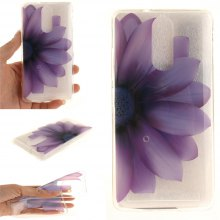 Cover Case for Lenovo K5 Note Half The Flower Soft Clear IMD TPU Phone Casing Mobile Smartphone
