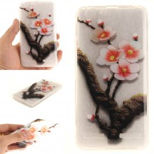 Cover Case for Lenovo K5 The Four Plum Flower Soft Clear IMD TPU Phone Casing Mobile Smartphone