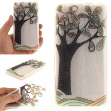 Cover Case for Lenovo K5 Hand Draw A Tree Soft Clear IMD TPU Phone Casing Mobile Smartphone