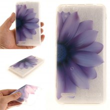 Cover Case for Lenovo K5 Half The Flower Soft Clear IMD TPU Phone Casing Mobile Smartphone