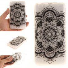 Cover Case for Lenovo K5 Black Sunflower Soft Clear IMD TPU Phone Casing Mobile Smartphone