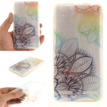 Cover Case for Lenovo K5 Fantasy Flowers Soft Clear IMD TPU Phone Casing Mobile Smartphone