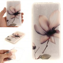 Cover Case for Lenovo K5 Magnolia Soft Clear IMD TPU Phone Casing Mobile Smartphone