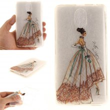 Cover Case for Lenovo Vibe P1M Hand-Painted Dress Soft Clear IMD TPU Phone Casing Mobile Smartphone