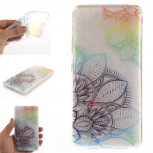 Cover Case for Lenovo S90T Fantasy Flowers Soft Clear IMD TPU Phone Casing Mobile Smartphone