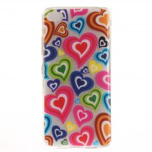 Cover Case for Lenovo S90T Color of Love Soft Clear IMD TPU Phone Casing Mobile Smartphone