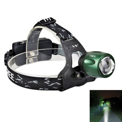 HKV Cree-T6 10W 6000K 1000LM High Quality Headlight Rechargeable Zoom Head Lamp