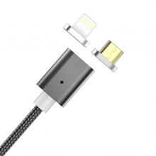 Newest 2 in 1 Nylon Braided Magnetic Usb Charging Cable For 8 Pin Android