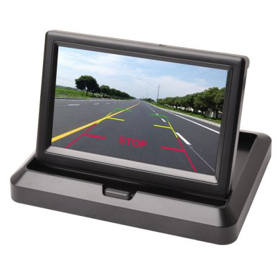 5inch Foldable TFT Color LCD Car Reverse Rearview Security Monitor for Camera DVD VCR