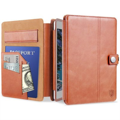 Benuo for iPad Pro 10.5 Case All in 1 Classic Leather Case w/ Card Slots/Pencil Holder and Hand Strap Folio Flip Case / Secure Closure Multi Stands