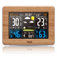 FJ3365 Weather Station Color Forecast with Alert | Temperature | Humidity | Barometer | Alarm | Moon phase |
