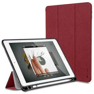 iVAPO for iPad Pro 10.5 Case PU Leather Slim Smart Cover With Pencil Holder Auto Sleep/Wake Function