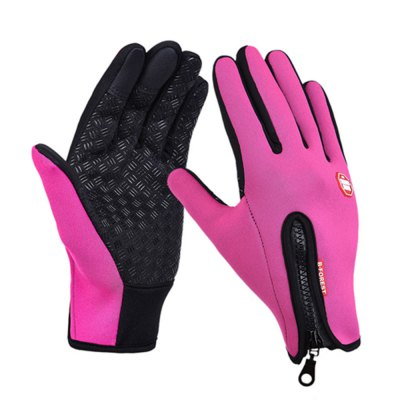 High Quality Cold Weather Fleece Windproof Winter Touch Screen Gloves for Smart Phone