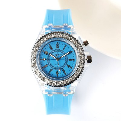 Fashion Trendy Girls Watch Casual Silicone Ladies Watches Glow LED Lights Student Watches