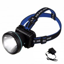 HKV 500LM LED Headlamp Rechargeable Head Lamp Light Torch Flashlight Waterproof Fishing Headlight + Charger