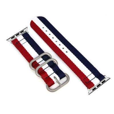 42mm Woven Nylon for iWatch Series 3/2/1 Band Replacement Strap With silver Adapters